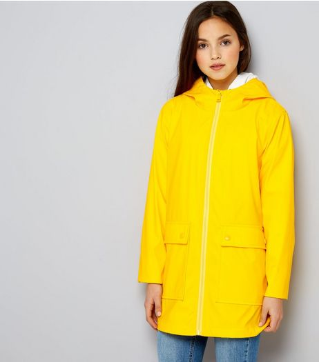 Teens Yellow Matte Anorak | New Look