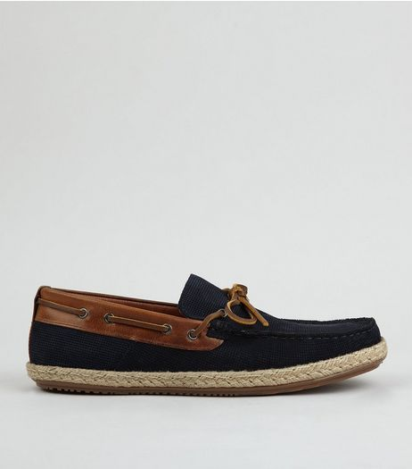 Navy Suede Espadrille Loafers | New Look
