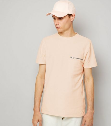 Pink Zip Detail T-Shirt | New Look