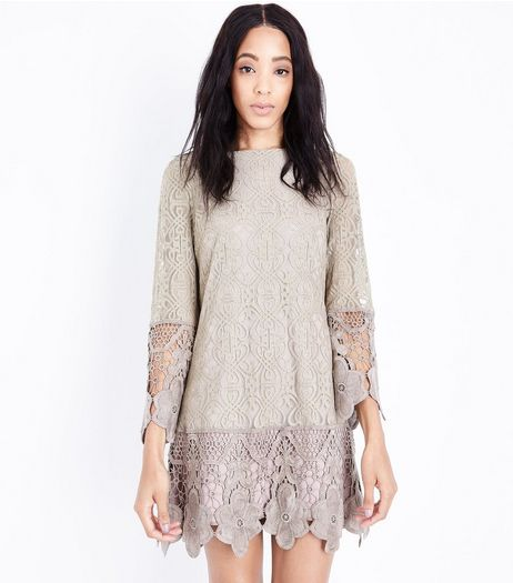 Mela Pink Floral Lace Dress | New Look