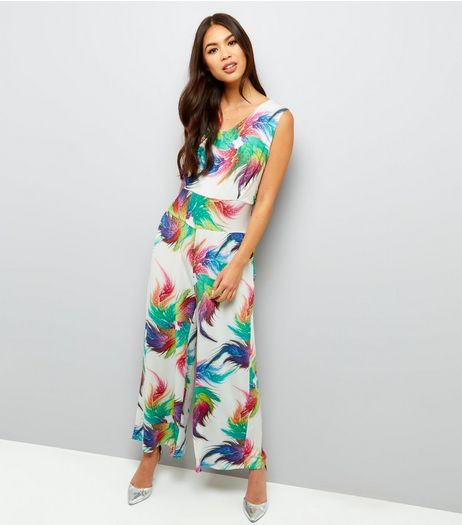 Mela Multicoloured Floral Print Jumpsuit  | New Look