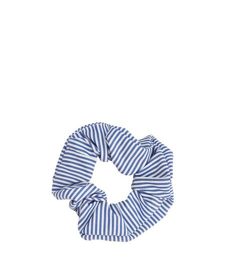 Blue Striped Scrunchie | New Look