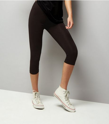 Black 3/4 Leggings | New Look