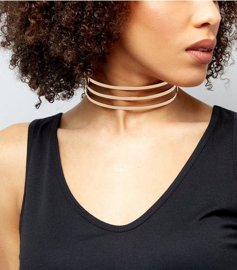 Gold 3 Bar Choker | New Look