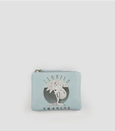 Blue Tequila Sunrise Metallic Purse | New Look