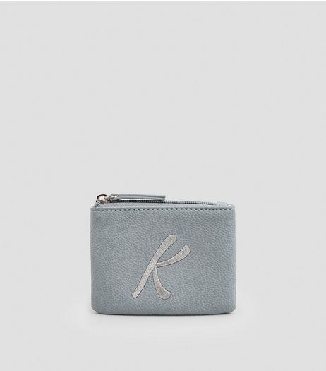 Stone Metallic Initial K Embroidered Purse | New Look