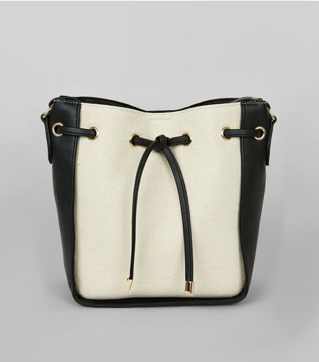 Black Contrast Side Mini Duffle Bag | New Look