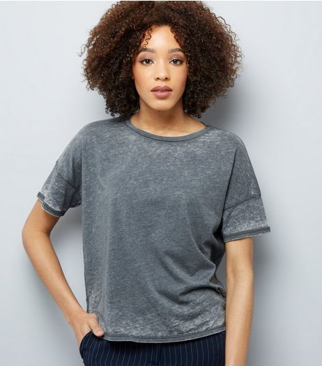 Grey Short Sleeve T-Shirt | New Look