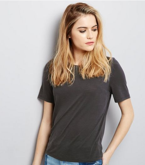 Black Short Sleeve Crew Neck T-Shirt  | New Look