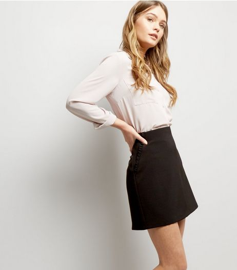 Black Frill Pocket Mini Skirt | New Look