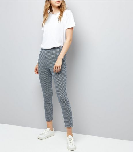 Blue Bengaline Slim Leg Trousers  | New Look