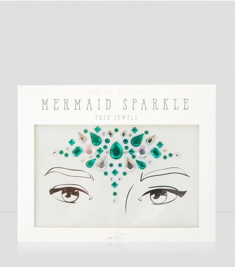 Blue Mermaid Face Jewels | New Look
