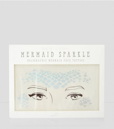 Holographic Mermaid Face Tattoos | New Look