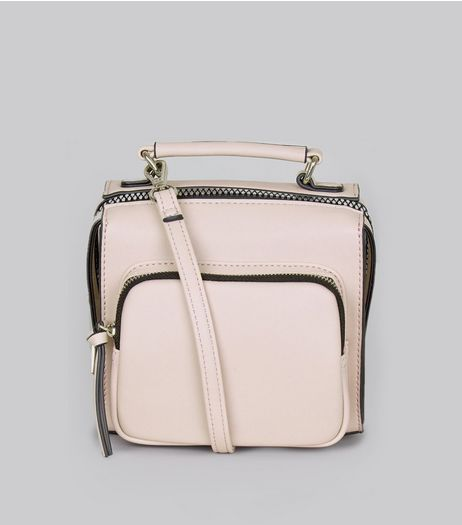Lilac Chunky Zip Pocket Cross Body Bag | New Look