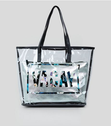 Transparent Vacay Shopper Bag | New Look