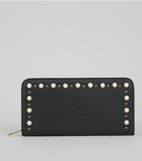 Black Pearl Stud Purse | New Look