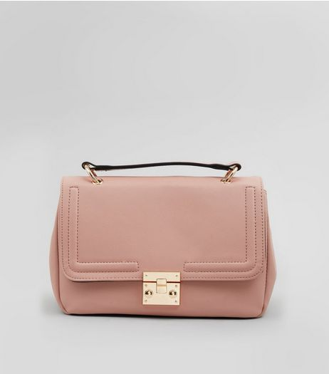 Pink Handle Top Satchel | New Look