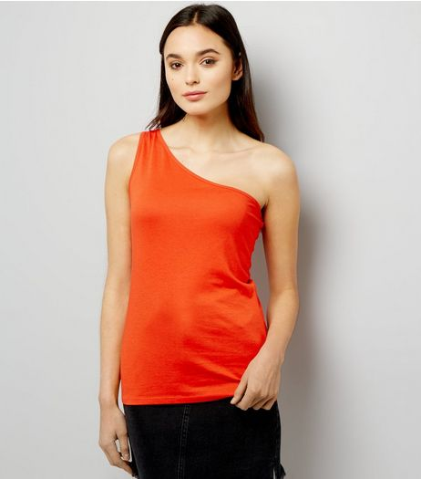 Orange Off the Shoulder Vest  | New Look