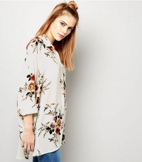 Cameo Rose White Floral Shirt | New Look