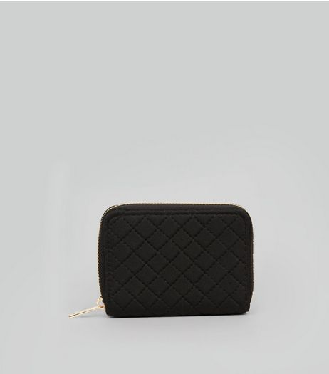 Black Quilted Cardholder | New Look