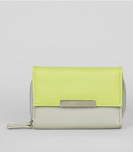 Bright Green Panel Purse | New Look