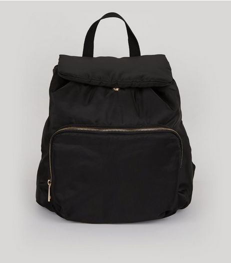Black Drawstring Backpack | New Look