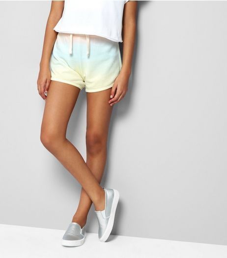 Teens Yellow Ombre Jersey Shorts | New Look