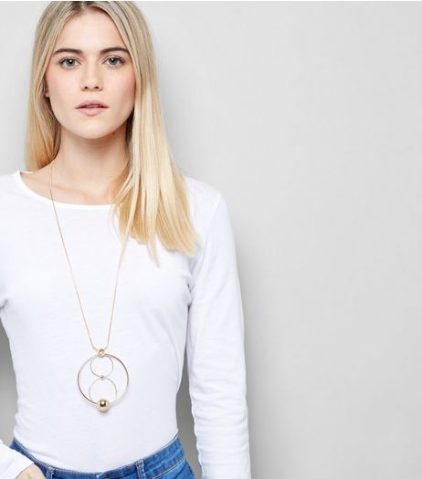 Gold Circle Link Pendant Necklace | New Look