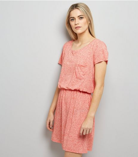 JDY Mid Pink Elasticated Waist Dress | New Look