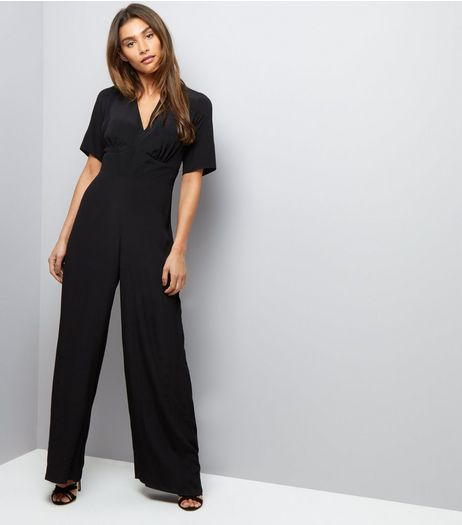 Black V Neck Jumpsuit | New Look