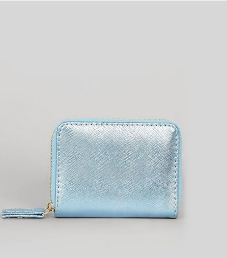 Blue Metallic Cardholder | New Look