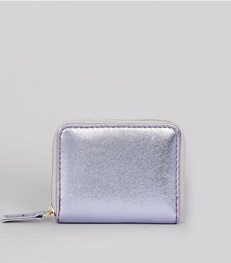 Lilac Metallic Cardholder | New Look