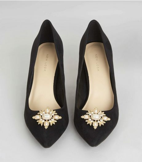 Gold Pearl Detail Shoe Clips | New Look