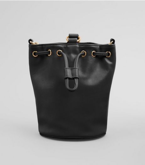 Black Drawstring Top Mini Duffle Bag | New Look