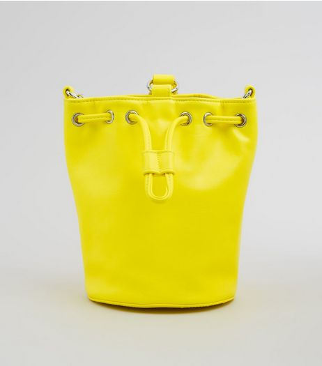 Yellow Drawstring Top Mini Duffle Bag | New Look