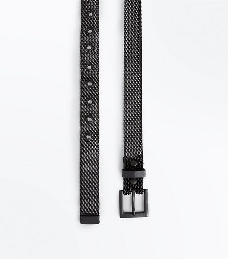Black Metal Jeans Belt  | New Look