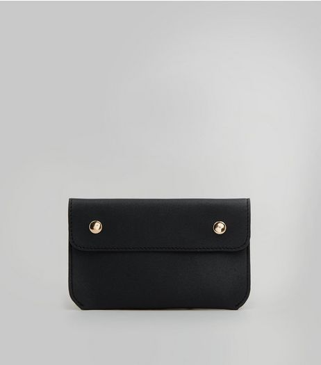 Black Pouch Purse Belt | New Look