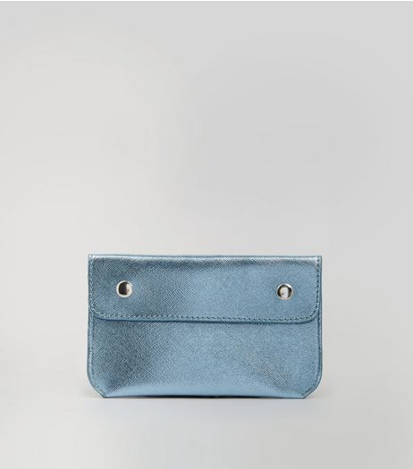 Pale Blue Double Pouch Purse Belt | New Look