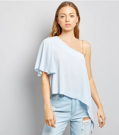 Pale Blue Off the Shoulder Blouse  | New Look