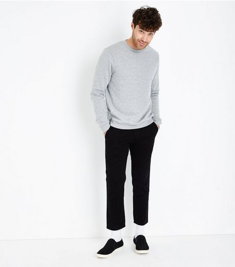 Black Cropped Slim Leg Chinos | New Look