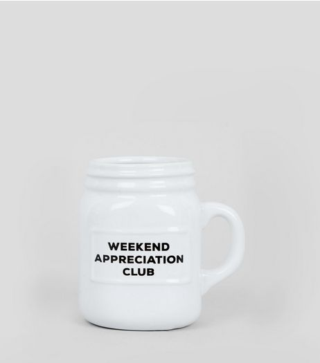 White Weekend Appreciation Club Mug | New Look