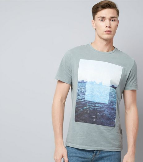 Grey Detroit Graphic Print T-Shirt | New Look
