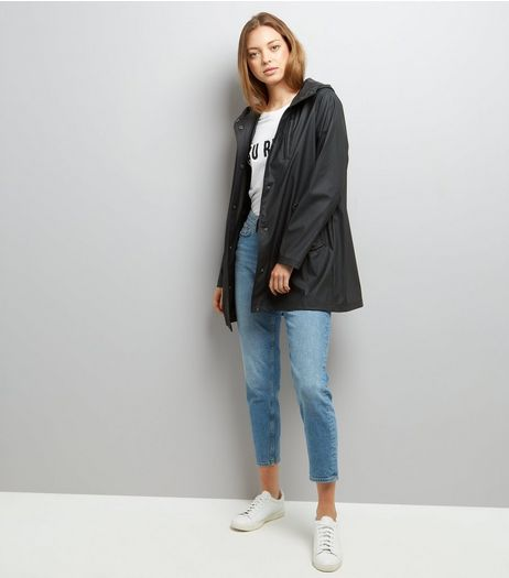Black Matte Anorak | New Look