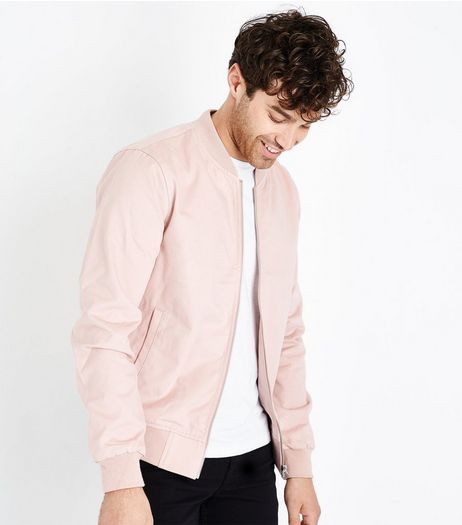 Pink Cotton Bomber Jacket | New Look