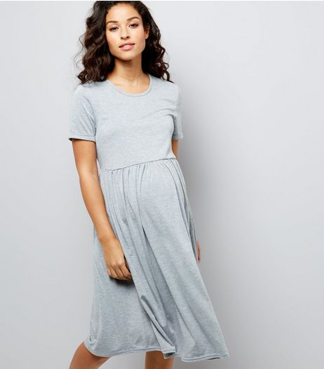 Maternity Grey Jersey Smock Dress | New Look