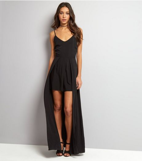 Black 2 in 1 Maxi Playsuit | New Look