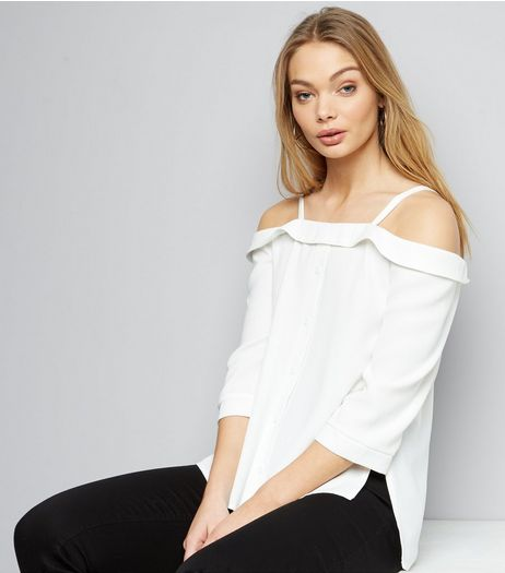 Cameo Rose Bardot Neck 3/4 Sleeve Top  | New Look