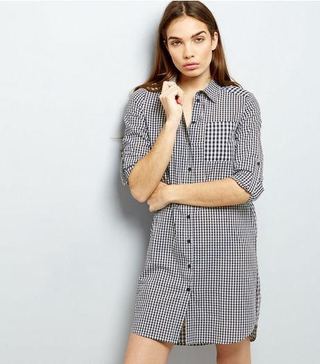 Cameo Rose Black Gingham Shirt Dress | New Look