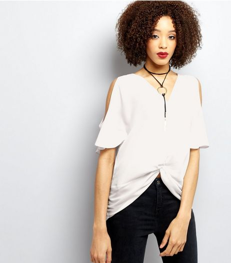 Cream Twist Front Top | New Look