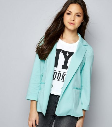 Teens Mint Green Blazer  | New Look